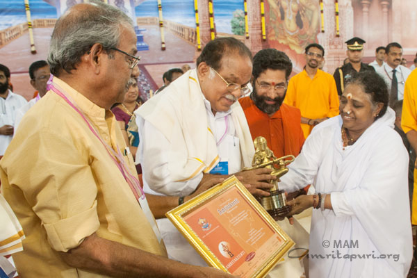 amritakeerti award is being given by Amma