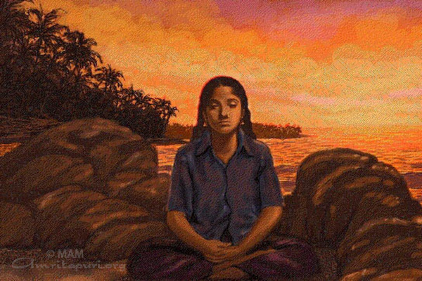 Painting of Amma as a child