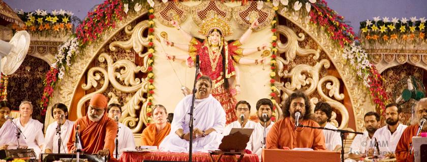 Amma singing bhajans