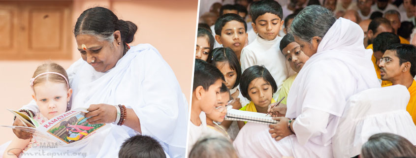 Amma telling stories to children