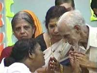 Amma with the King of Malabar