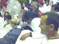 Amma giving darshan in Australia