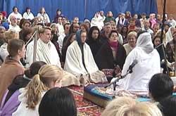Meditation session with Amma