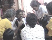 Amma gives darshan
