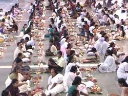 Navaratri celebrations in Amritapuri