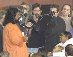Amma being interviewed