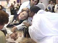 Amma kissing a devotee