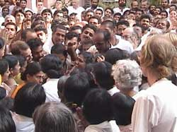 Amma with a group of people