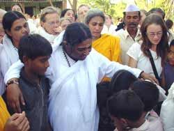 Amma with the tour group in Pune