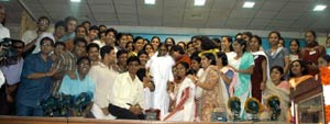 Amma with medical students