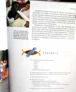Amma in a Finish textbook