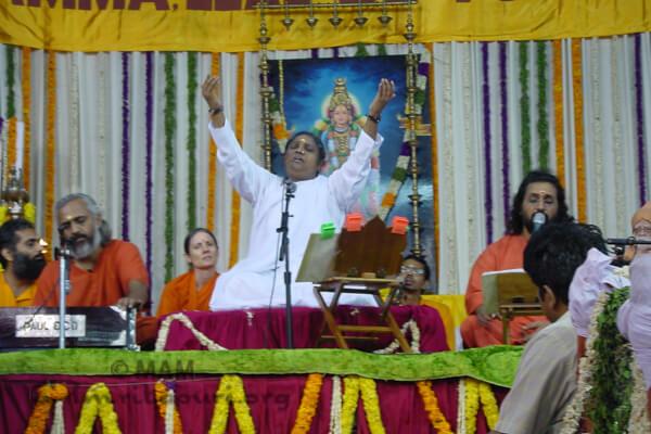 Amma singing in Kanya Kumari