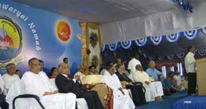 Amma on stage in Bangalore