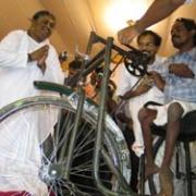 Amma gives away a wheelchair