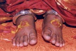 Amma's feet