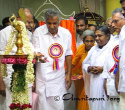 Amma inaugurating Amrita Ayurveda Medical Hospital