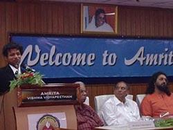 Swami Amritaswarupananda with Dr. P. Venkat Rangan