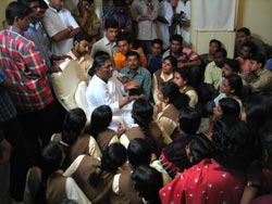 Amma with students
