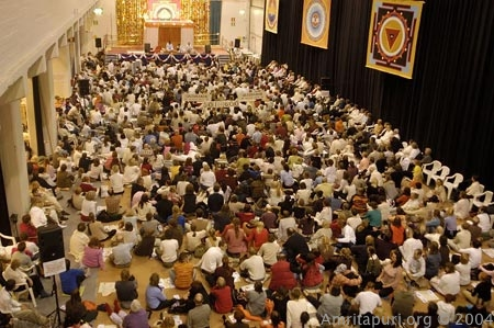 Amma's program in Finland 2004
