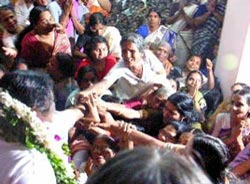 Amma with devotees