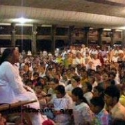 Amma with devotees on New Year's Eve