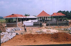 The construction of Brahmasthanam temple in Trissur