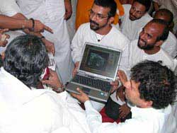 Amma with a laptop