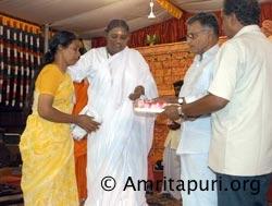 Amma on stage in Trissur