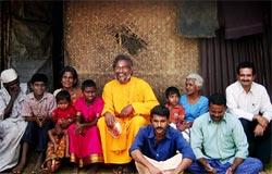Tribals with Brahmachari Akshayamrita Chaitanya