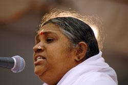 Amma speaking