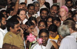 Amma with devotees