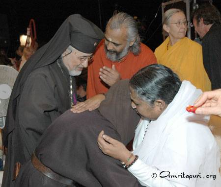 Amma with Christian dignitaries