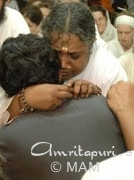 Amma giving darshan