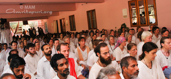 Amma's tour group in Talassery