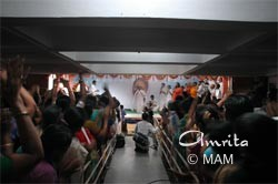 Amma on stage during Shivaratri in Pune