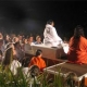 Amma meditating with devotees in Australia
