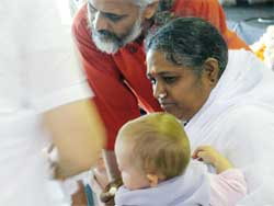 Amma with a baby