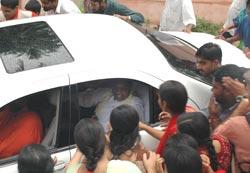 Amma in car