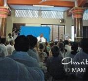 Amma giving satsang
