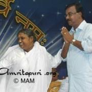 Amma with Sri. C. Divakaran