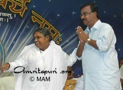 Amma with Sri. C. Divakaran