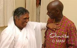 Amma with Olara Otunnu