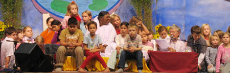 Amma with children in Germany