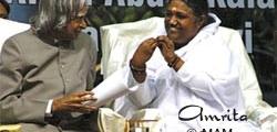 Amma with Dr. APJ Abdul Kalam