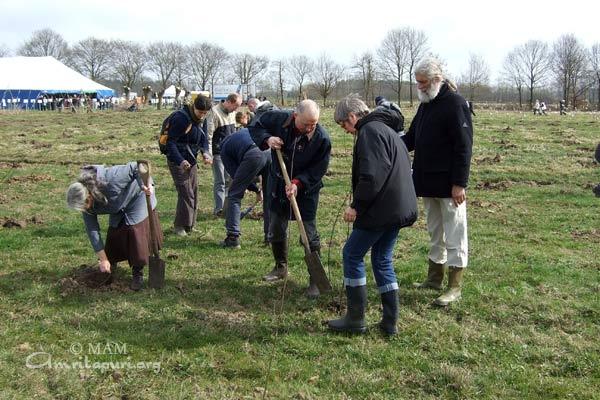 AYUDH planting trees in Belgium