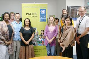Br. Shantamrita with United Nations staff