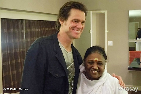 Jim Carrey with Amma