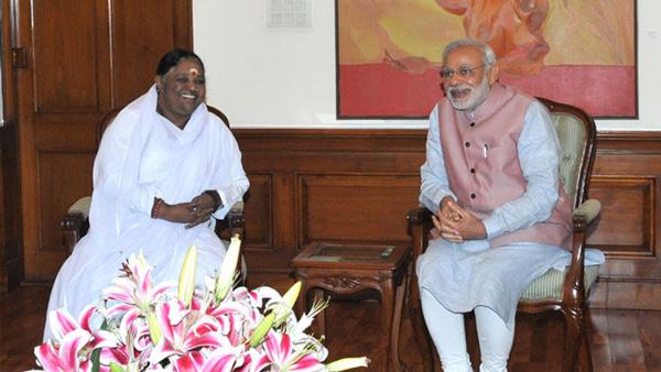 Amma & India's Prime Minister Narendra Modi