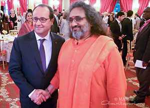 with French President