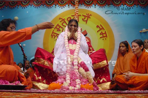 Amma's Pada Puja